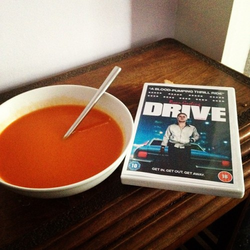 If tomato soup and Ryan Gosling can't make me better I don't know what will… (Taken with Instagram) #tomatosoup #ryangosling #drive #notwell