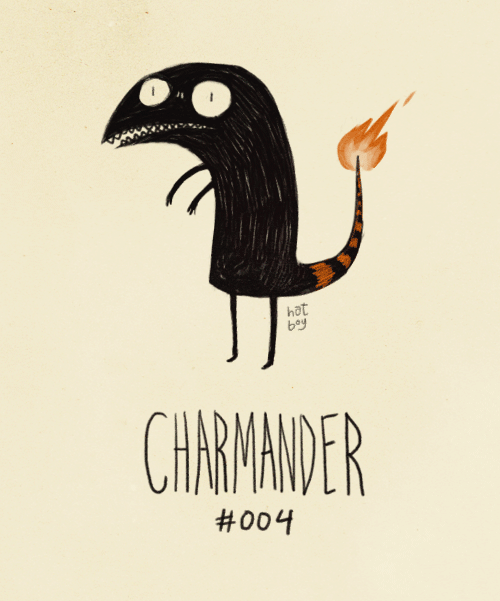 Charmander #004 (Tim Burton Pokemans)