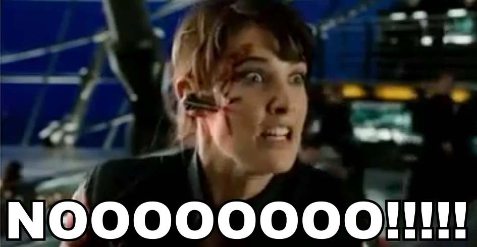 Cobie Smulders portraying every Agent Coulson fan in The Avengers blooper reel.