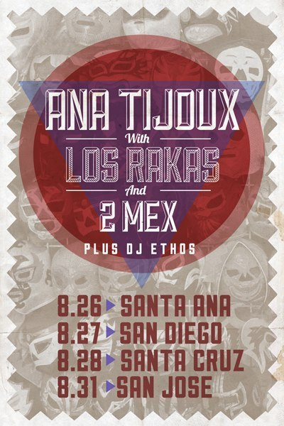 2tuff:  Ana Tijoux & Los Rakas - together in concert!!
