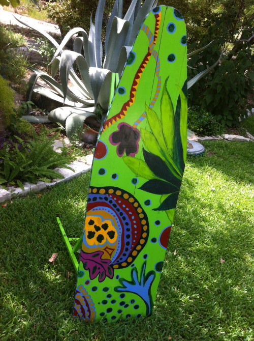 Get up - Stand up - Vintage ironing board, new paint