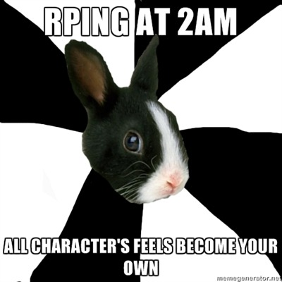 fyeahroleplayingrabbit:  Never fails.