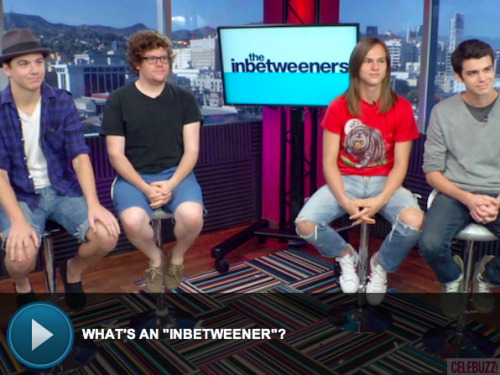 "MTV's 'The Inbetweeners' stars talk about being the ""not cool, not nerdy"" kids. Click to watch the video!"