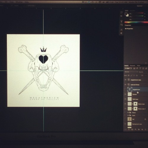 Working on a new special logo for future original artworks. My normal signature just sucks… (Taken with Instagram)