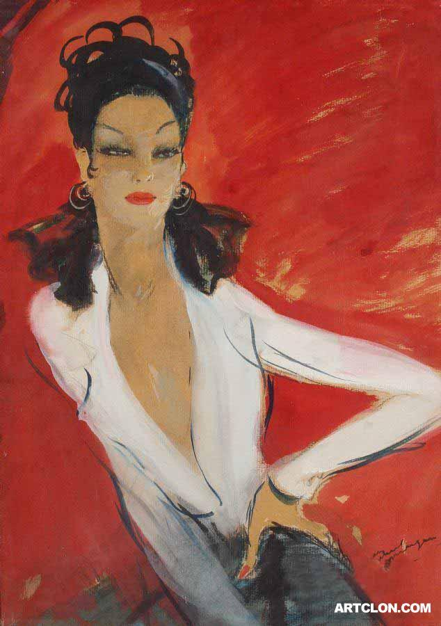 Jean Gabriel Domergue (Hate the advertising text but couldn't find a copy without)