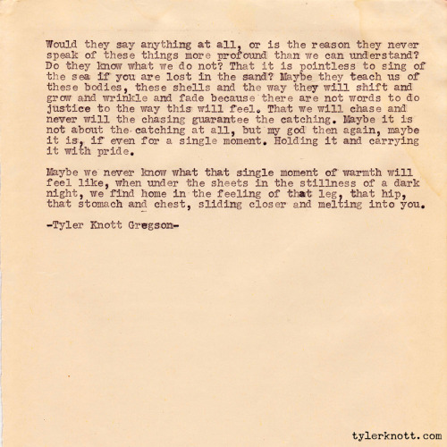 Typewriter Series #148 by Tyler Knott Gregson *Part 4 - Fin.*