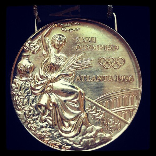 Memories! #Atlanta #Olympics #Gold #MagnificentSeven #Mag7 #1996 #USA #Gymnastics #DominiqueMoceanu  (Taken with Instagram)