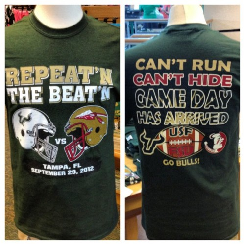 ALL OF THE YESES! #usf #gobulls #fsu (Taken with Instagram)