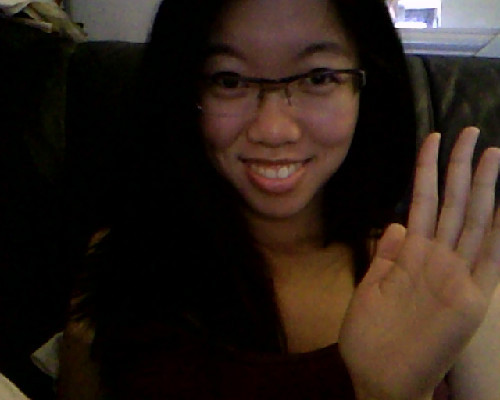 Hi Tumblr! Smiles for you all! :) I know, my hand doesn't look real.