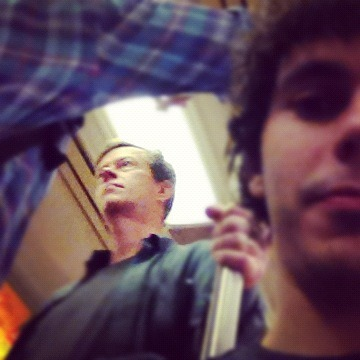 Subtle pic of Dylan Baker on the subway  Very nice. Snaps for you. Dylan Baker, everyone.