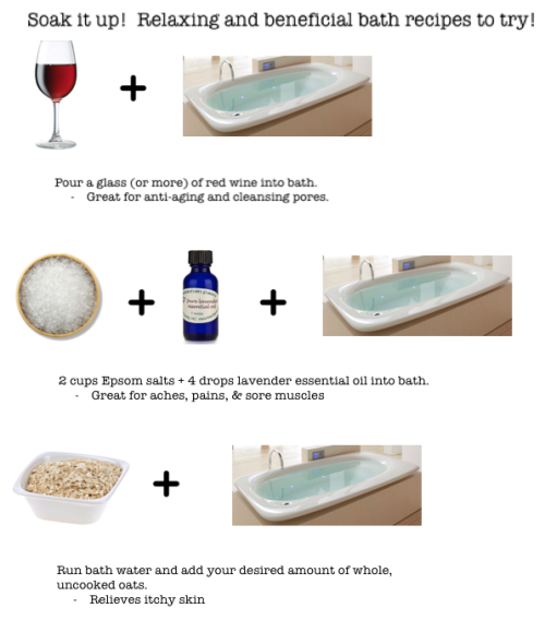 Soak it up!  Bath recipes that will help your skin!