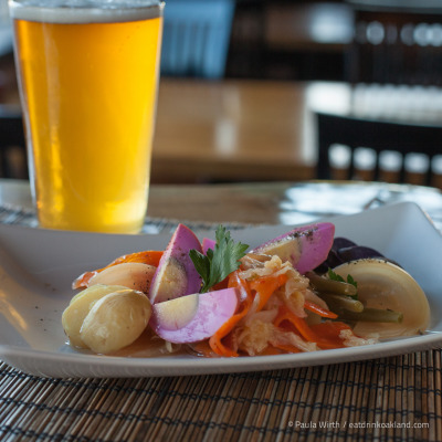 Pickled organic vegetable plate with egg and Calicraft beer at Portal, 1611 2nd Ave., Oakland - see more photos.
