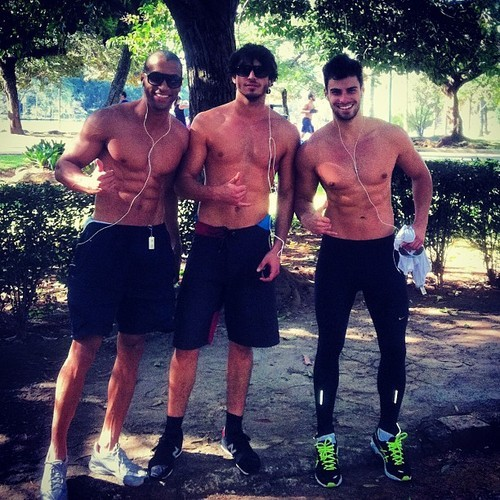fitness-love-health:  if i saw these guys in the park i would literally follow them everywhere they go. OH HOW I WISH THEY WERE MY PERSONAL TRAINERS. argh