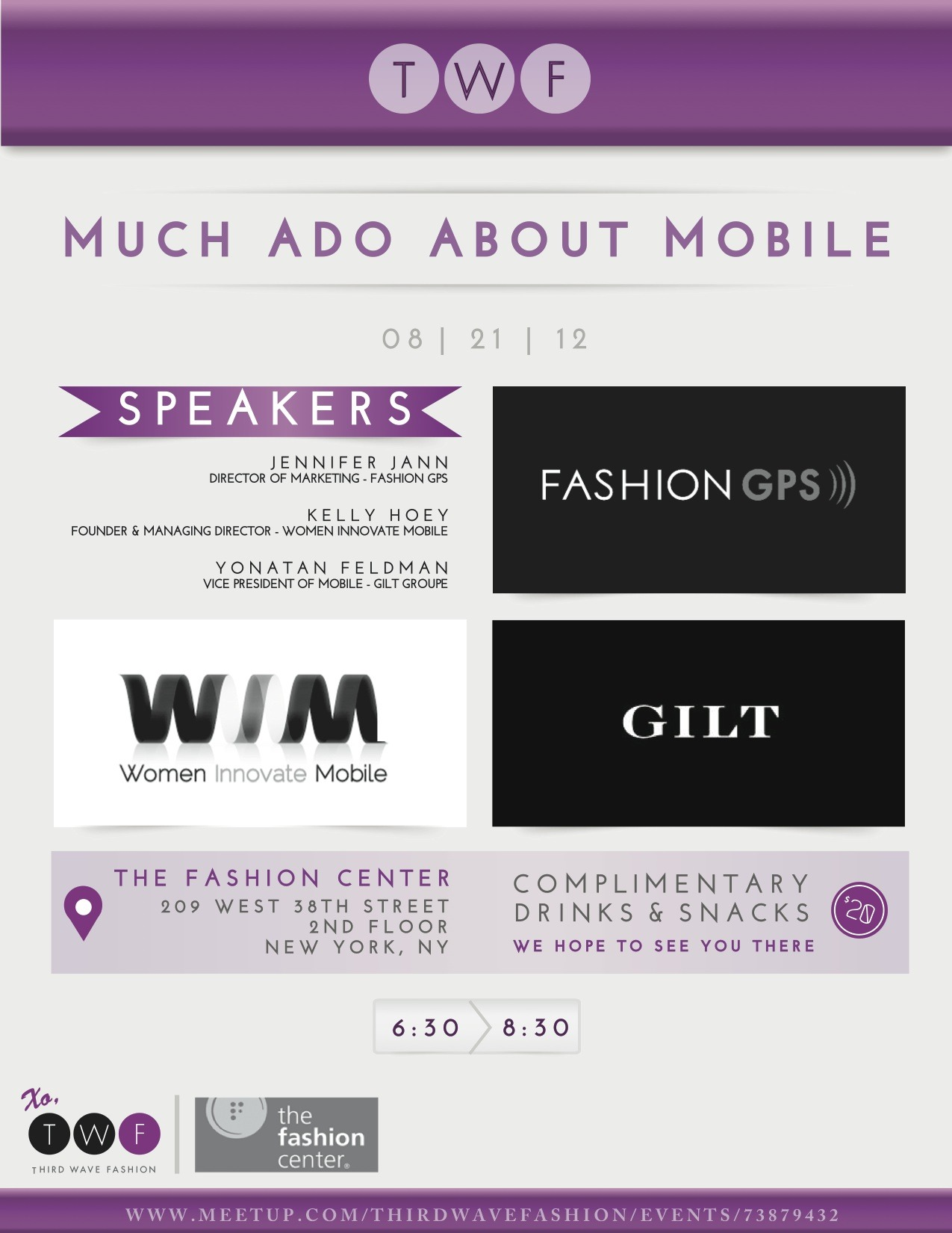 Tonight's the night! Check out our meetup page to RSVP for our mobile event tonight. We hope to see you there! XO, TWF