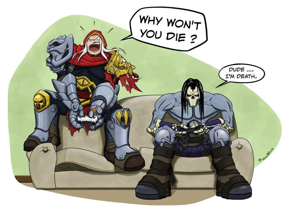 Darksiders II comic strip by PhenixWhite