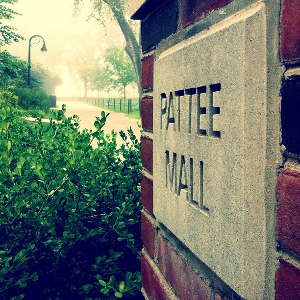 Morning Fog on Pattee Mall http://instagr.am/p/OmeKroPgOU/