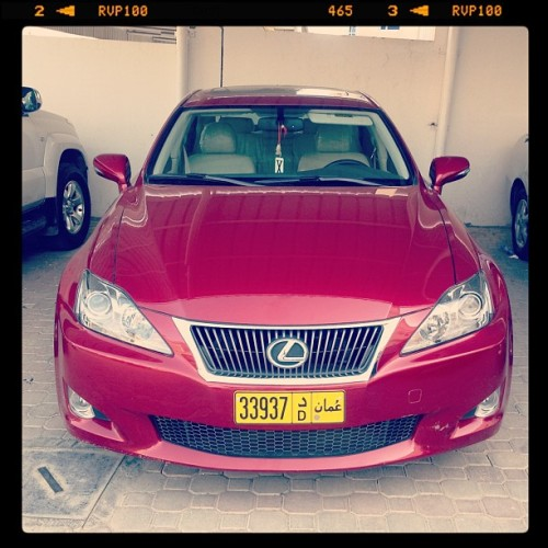 My New Ride :) Eid Gift To Myseldpf p.. Luving It ;) #lexus #is #car (Taken with Instagram)