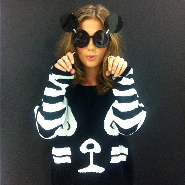 Cutest Mouseketeer ever.  (Taken with Instagram at Nasty Gal Studios)
