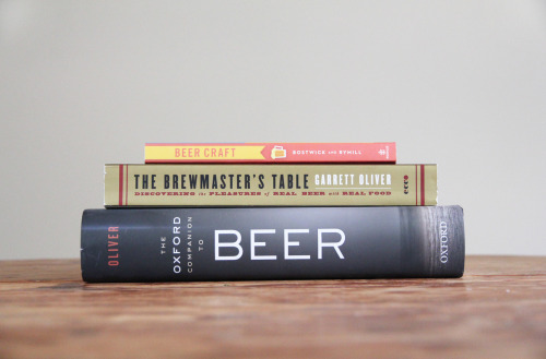 draughtmansjourney:  Recommended Reading Beer Craft This book blends both wonderfully simple graphic illustrations with plenty of helpful brewing ingredient factoids.  It serves as a brief introduction to beer and principally  a kitchen guide to any aspiring home brewer.  Recommended for both the upstart home brewer and lover's of graphic design. The Brewmaster's Table A beautiful, intensive, and well researched book that displays how versatile well crafted beer can pair so well with food.  It is packed with beer style history, anecdotes, photographs, pairing recommendations, and challenges the notion that wine is the only elixir that can compliment meals.  Highly recommended for people who love both beer and cooking.   The Oxford Companion to Beer A must-have for any beer lover's bookshelf, this book is the go to encyclopedia for anything related to beer.  This book extensively covers the history of breweries, beer styles, brewing science, answer any beer related question if a smart phone is not handy.