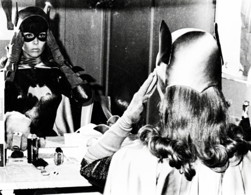 Yvonne Craig as Batgirl backstage at the Merv Griffin Show (1967)