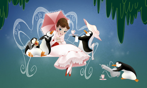 It's a jolly holiday With Mary… Mary Poppins illustrated by Heather Dixon :: via story-monster.blogspot.ca