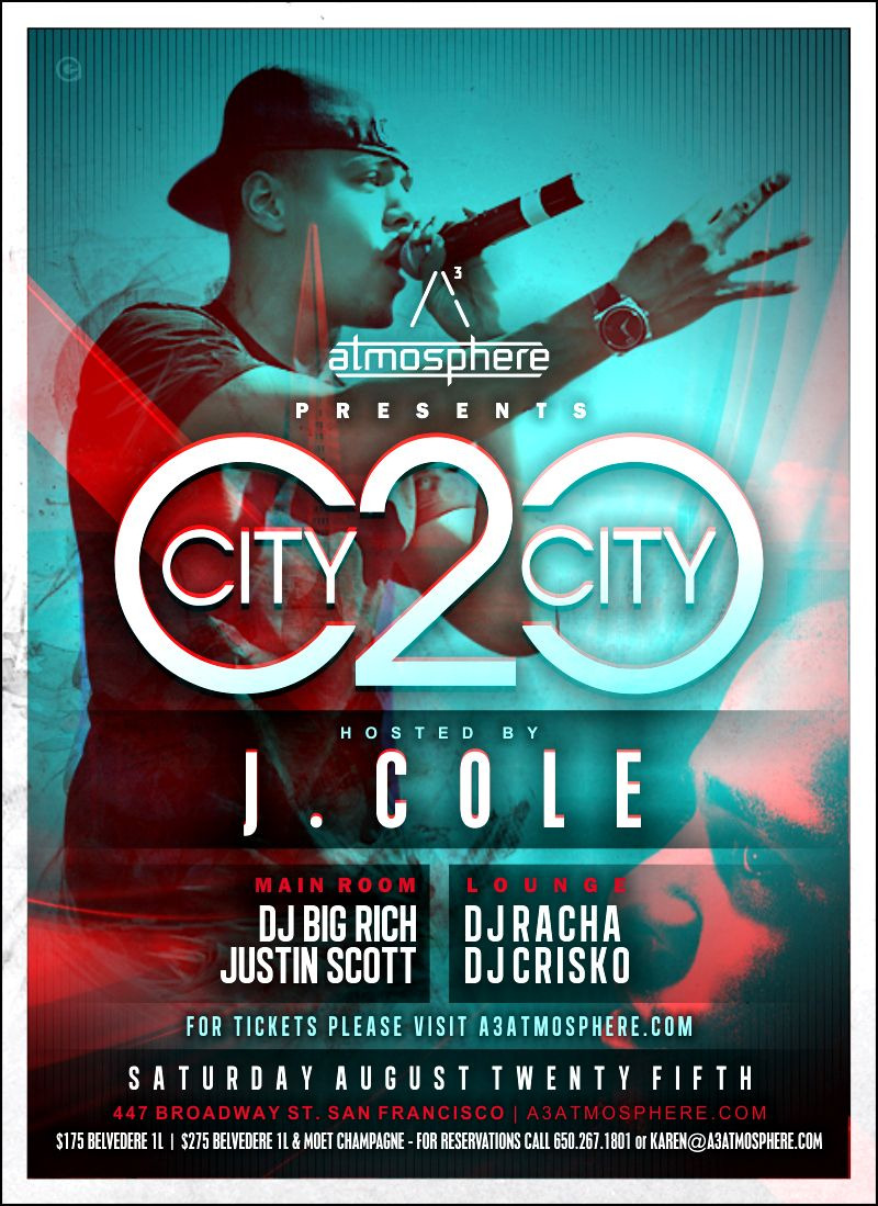 Follow me as I open up for the J Cole show @ atmosphere.
