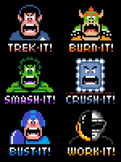 it8bit:  Wreck-It Ralph Mashup Tees/Hoodies Created by Drew Wise Pick them up at Red Bubble!