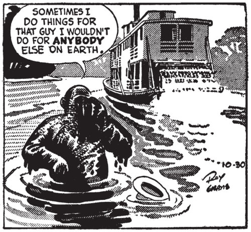fantagraphics:  Panel from Buz Sawyer Vol. 2: Sultry's Tiger by Roy Crane.