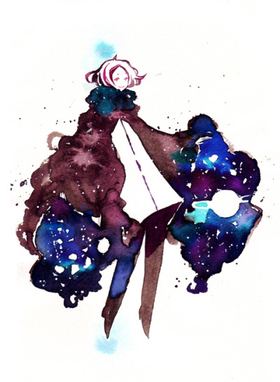 universe sleeves Dr. Ph Martin watercolour + Muse Cubi Watson paper