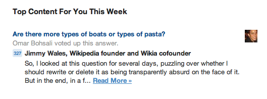 From my weekly Quora email. I love every single thing about this picture. (Oh, and if you're dying to know the answer…here you go.)