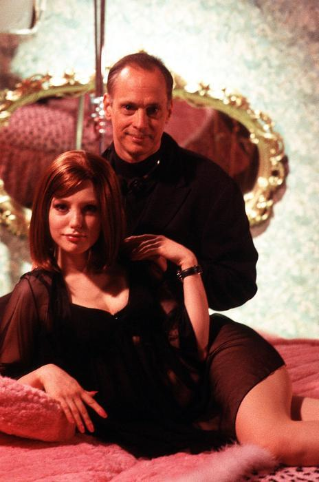 Alicia Witt (as Cherish) and John Waters on set, Cecil B. Demented, 2000