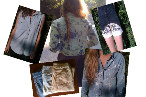 DIY Bleaching Denim for Beginners Part One from Prudence & Austere here. Really good basic information on bleaching fabric. I got a message recently from someone asking if they should rinse the newly died bleached fabric and the answer was YES right away because the bleach will literally eat away at your clothing. For more on bleaching tutorials go here: truebluemeandyou.tumblr.com/tagged/bleach. For dyeing tutorials go here: truebluemeandyou.tumblr.com/tagged/dye.
