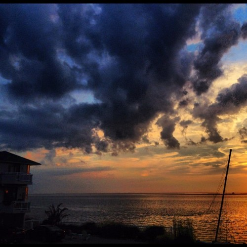 another #dope #sunset at #lbi #wof2012 @thebigcon @thayaplaya @cole8657 (Taken with Instagram at Holgate Beach LBI)