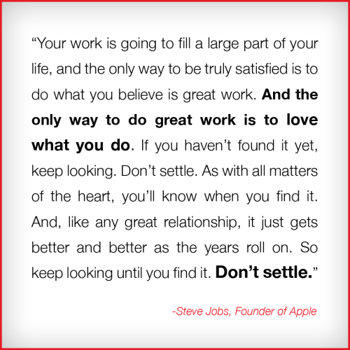 Are you doing work that you love?