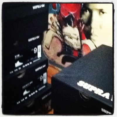 @suprafootwear stacked high in the corner of the room (Taken with Instagram)