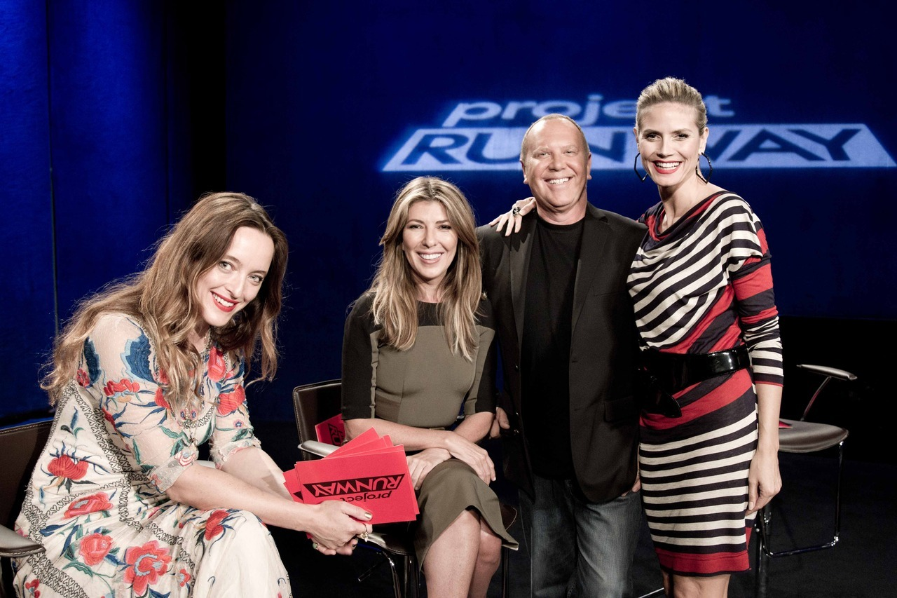 ninagarcia:  The Project Runway gang with this week's guest judge, Alice Temperley