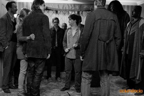 hpcast:  HP and Deathly Hallows Part 1- BTS Photo