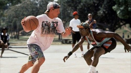 "sportsnetny:  An oral history of Ron Shelton's basketball comedy 'White Men Can't Jump' Read: Grantland  ""Billy Hoyle: I'll tell you what. Why don't we take all these bricks and build a shelter for the homeless, so maybe your mother will have a place to stay."""