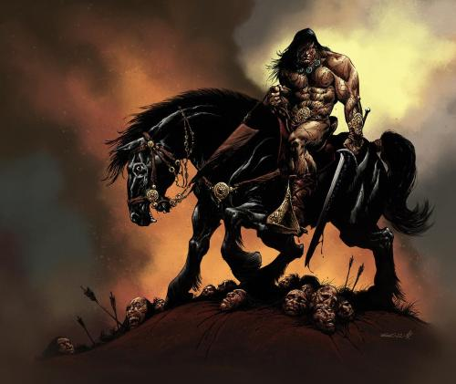 creaturesfromdreams:  Conan by ~MarkHRoberts —-x—- More: | Comics | Random |