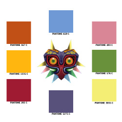 majorasmask:  Majora's Mask Pantone Color Matches