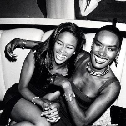 Random Fabulousness: Naomi Campbell & Grace Jones.