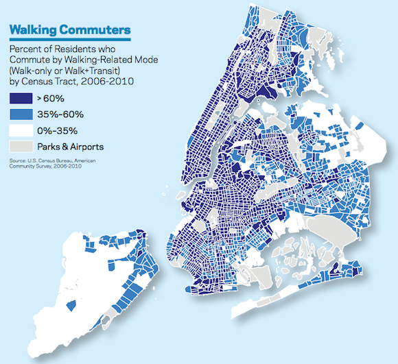 "2011 DOT Scorecard: More Jobs, More Subway Riders, Traffic Stays Flat  While the number of employed New Yorkers has recovered from the lows of the recession, motor vehicle traffic in the city remained flat last year, with increased demand for travel being met by the city's increasingly stretched subways, according to NYC DOT's annual Sustainable Streets Index update. The report, released Monday, collects data from a wide variety of sources to assess the state of the city's transportation network. The update is part of the city's PlaNYC 2030 sustainability initiative and builds on previous releases from 2008, 2009 and 2010. DOT's preliminary data shows that citywide motor vehicle traffic, measured by counting ""daily weekday traffic volumes at Borough and City boundaries,"" flattened out in 2011 after rising 1.1 percent in 2010. Even with 2010's increase, in 2011 traffic remained 0.8 percent below pre-recession 2007 levels. Meanwhile, weekday subway ridership is up 2.5 percent in 2011 over 2010."