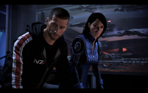 Shepard and Ashley by ~donabruja