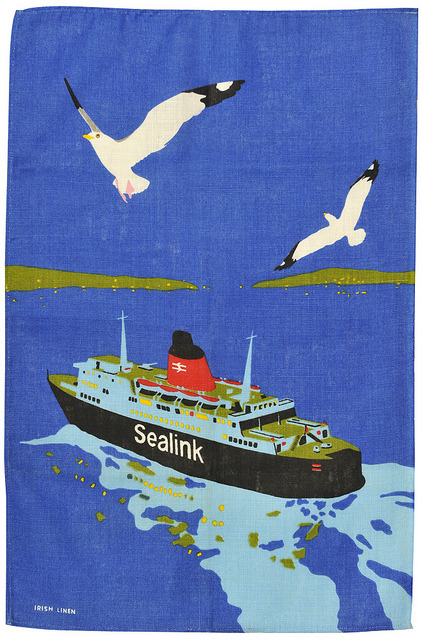 british rail sealink tea towel by maraid on Flickr.