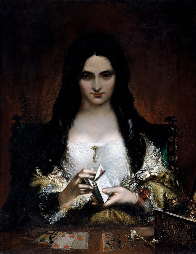 fleurdulys:  The Wish - Theodor von Holst  1840