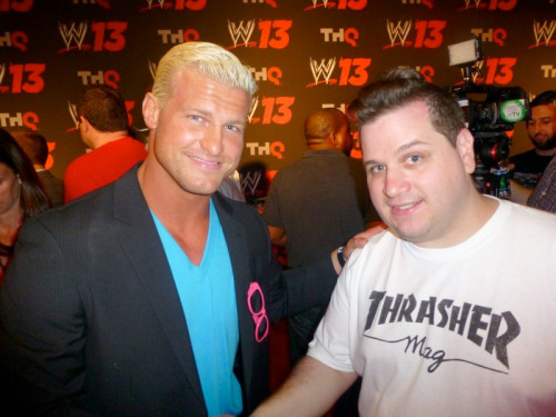 Me with Dolph Ziggler! This dude is, like, ridiculously good-looking in person. No joke. (He was also nice. Everyone was!)