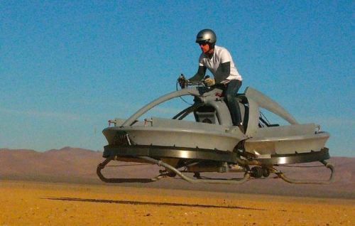 The Aerofex hover vehicle recalls the futuristic look of Star Wars speeder bikes. I'm coming Obi-Wan!