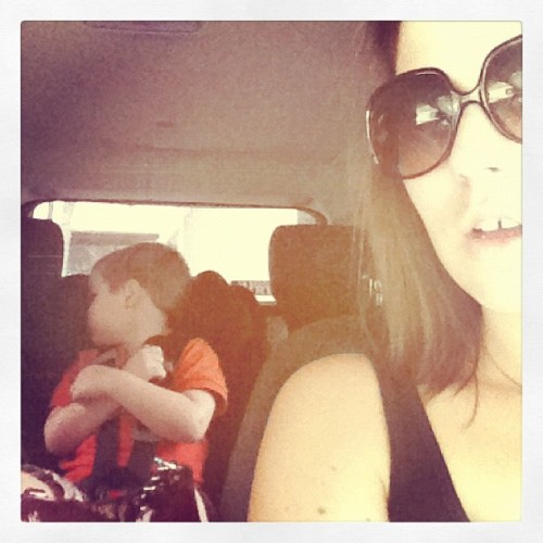 He won't take a picture with me today either…geez kid!  (Taken with Instagram)