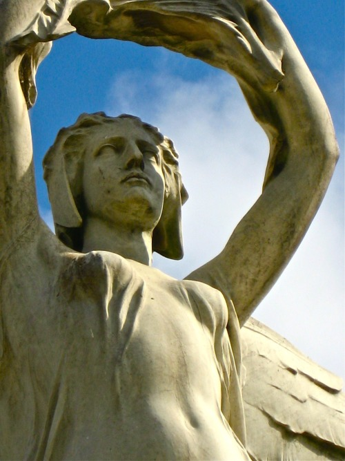 notesfromabroadblog:  monument angel   close- up