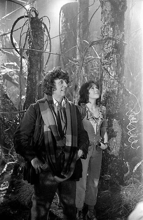 The Doctor and Sarah in Planet of Evil